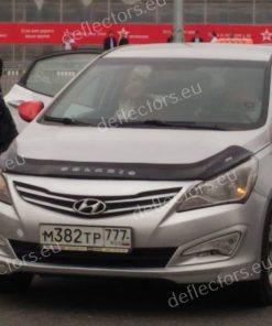 Дефлектор за преден капак за Hyundai Solaris (Accent) 2014-2017 (дълъг)